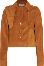Le Cropped Trench suede jacket