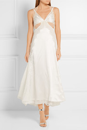 Alexander Wang Cutout lace-paneled silk-satin gown