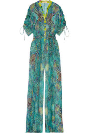 Matthew Williamson Printed silk-chiffon jumpsuit