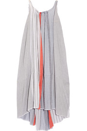 Almaz striped cotton-blend gauze maxi dress