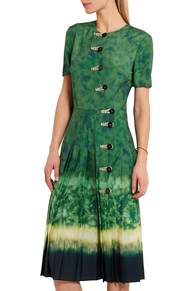 Altuzarra Ilari Tie Dyed Crepe De Chine Dress