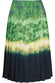 Zurina pleated printed chiffon skirt