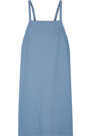 Adam Lippes Stretch-denim midi dress