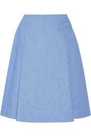 Adam Lippes Stretch-denim skirt