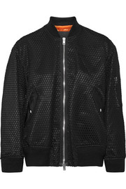 Net and shell bomber jacket