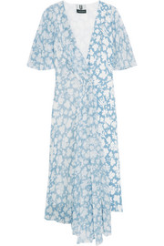 Balfour printed silk-georgette and crepe de chine dress