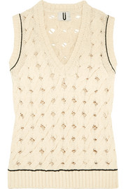 Ixworth cable-knit cotton-blend tank