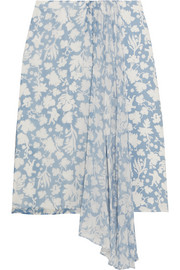 Balfour printed silk-georgette and crepe de chine skirt
