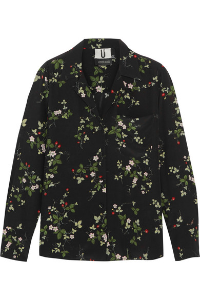Topshop Unique - Elystan Floral-print Silk Crepe De Chine Shirt - Black