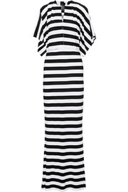 Norma Kamali Obie striped stretch-jersey maxi dress