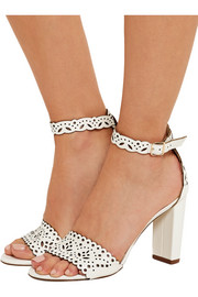 J.Crew Charlotte laser-cut leather sandals