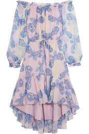 Camila printed silk-chiffon dress