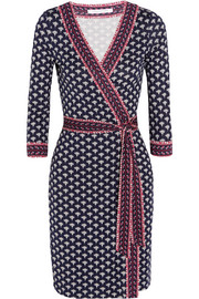 Julian printed silk-jersey wrap dress