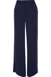 Davin stretch-silk wide-leg pants