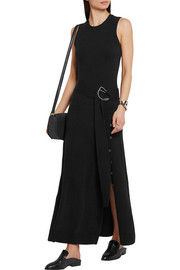 Belted cashmere-blend maxi dress