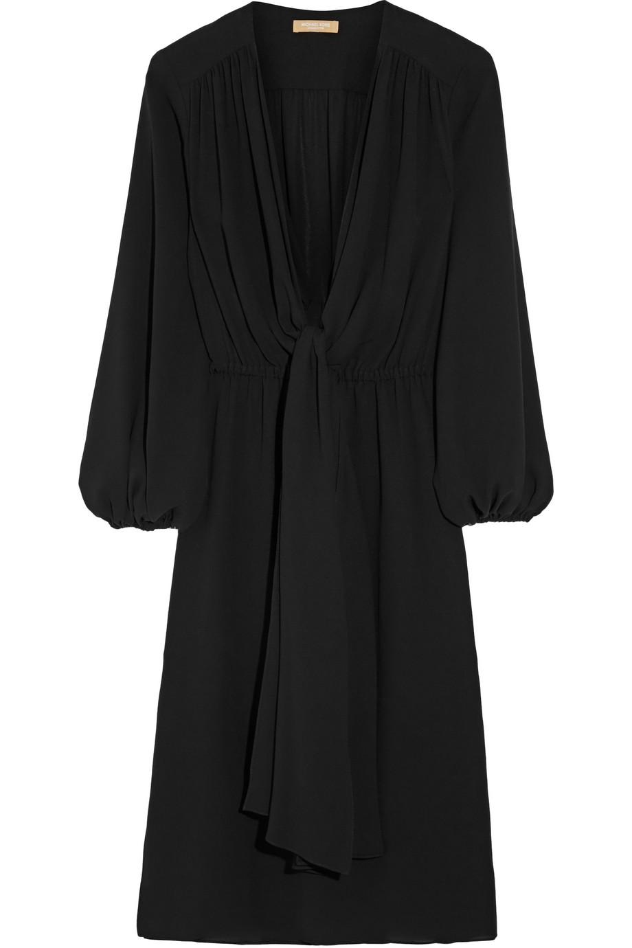 Wrap-Effect Silk-Georgette Dress, Size: 4