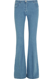 Mid-rise flared jeans