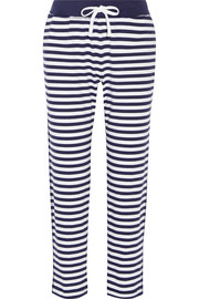 Jeanette striped cotton-jersey pajama pants