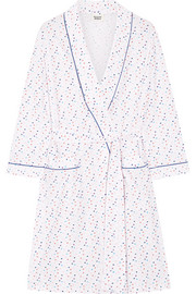 Isa Swiss-dot cotton-poplin robe