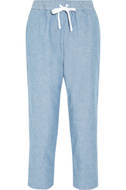 Hannah cotton-chambray pajama pants