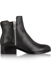 Alexa textured-leather ankle boots