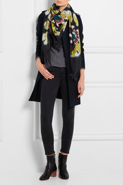 Burberry Prorsum Floral-print cotton and silk-blend scarf