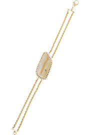 18-karat gold, opal and diamond bracelet