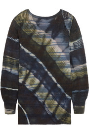 Tie-dyed merino wool and cashmere-blend sweater