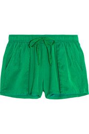 Silk and cotton-blend shorts