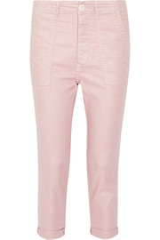 Cropped stretch-twill tapered pants