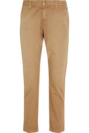 Current/Elliott The Buddy cotton-twill  straight-leg pants