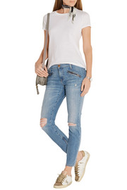 The Silverlake distressed low-rise skinny jeans