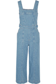 Current/Elliott The Dweller cropped denim overalls