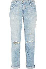 The Fling distressed low-rise boyfriend jeans