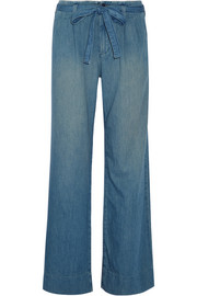 Current/Elliott The Paper Bag denim wide-leg pants