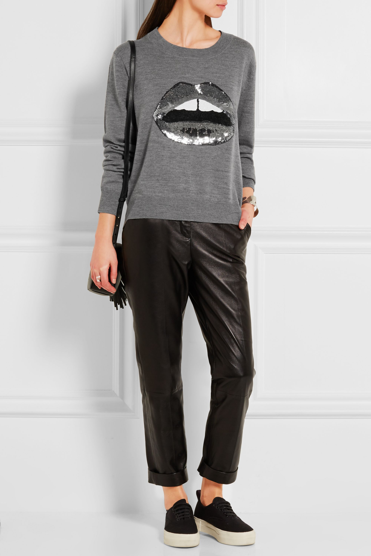 Markus Lupfer Lara Lip sequined merino wool sweater