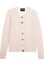 April crystal-embellished merino wool cardigan