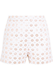 Rosannah cotton-blend jacquard shorts