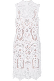 Jonathan Simkhai Embroidered cotton-blend and tulle mini dress