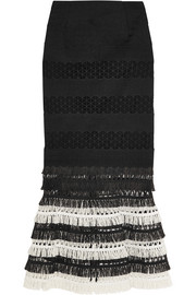 Fringed macramé skirt