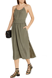 3.1 Phillip Lim Shirred silk crepe de chine midi dress