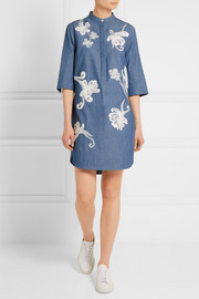 3.1 Phillip Lim Embroidered cotton-chambray shirt dress