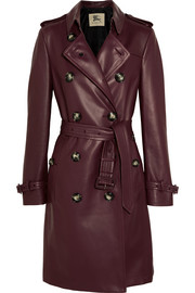 Kensington leather trench coat