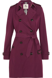 Kensington cotton-gabardine trench coat
