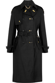 Silk and wool-blend trench coat