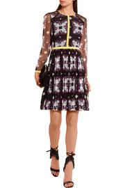Burberry Prorsum Printed mesh mini dress