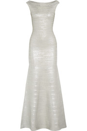 Metallic bandage gown