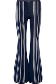 Hervé Léger Stretch-jacquard flared pants