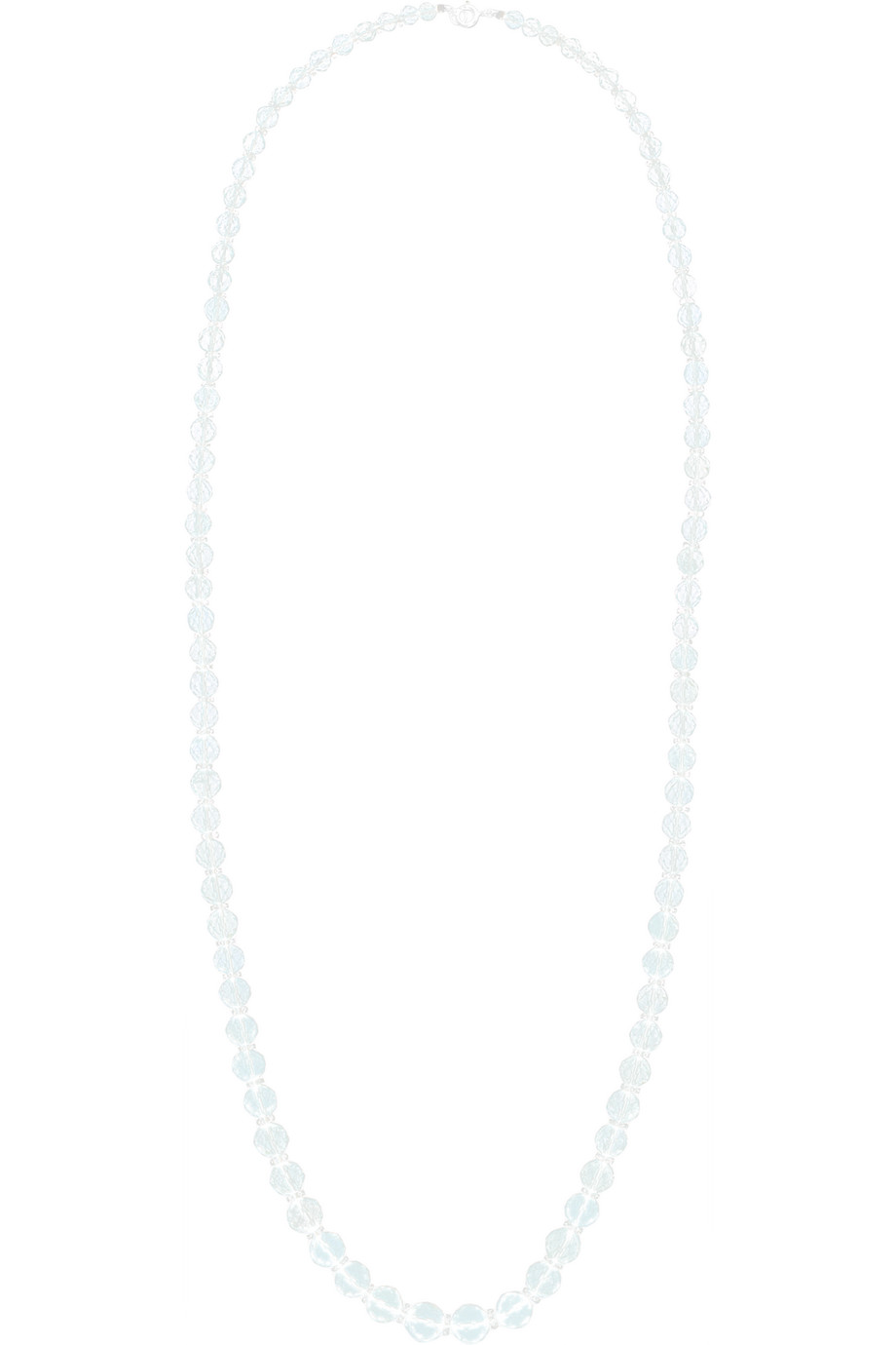 Fred Leighton 1910 Aquamarine and Rock Crystal Necklace, Blue, Women's