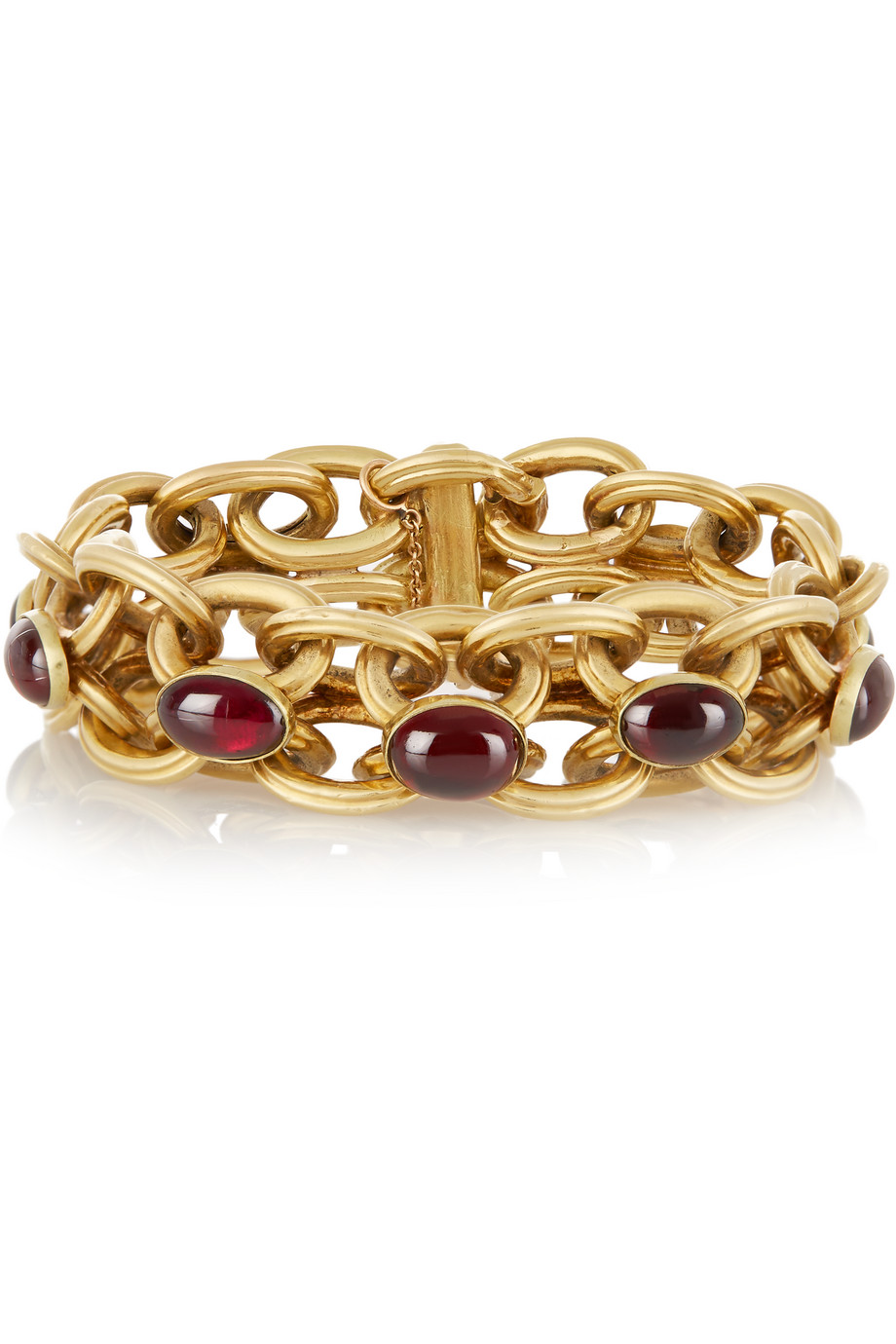 Fred Leighton 1880s 18-Karat Gold Garnet Bracelet, Women's